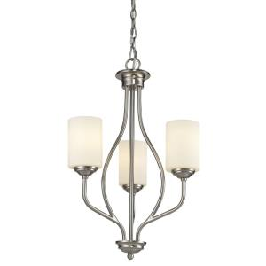Cardinal - 3 Light Chandelier in Fusion Style - 13.5 Inches Wide by 25 Inches High