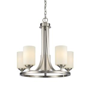 Bordeaux - 5 Light Chandelier in Fusion Style - 21.5 Inches Wide by 21.5 Inches High