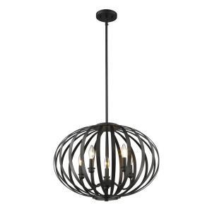 Moundou - 5 Light Pendant in Metropolitan Style - 20 Inches Wide by 16.75 Inches High