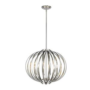 Moundou - 6 Light Pendant in Fusion Style - 24 Inches Wide by 21.25 Inches High