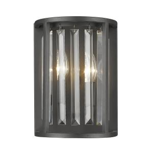 Monarch - 2 Light Wall Sconce in Fusion Style - 8.5 Inches Wide by 11.38 Inches High