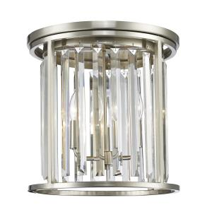 Monarch - 3 Light Flush Mount in Fusion Style - 14 Inches Wide by 13.88 Inches High