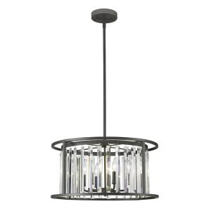 Monarch - 6 Light Pendant in Fusion Style - 22 Inches Wide by 12 Inches High