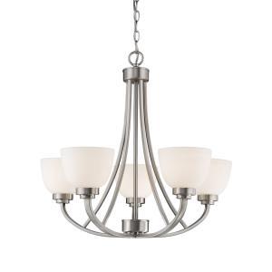 Ashton Chandelier 5 Light  Steel/Glass