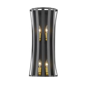 Geist - 4 Light Wall Sconce in Architectural Style - 10.5 Inches Wide by 24 Inches High