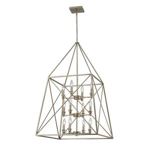 Trestle - 12 Light Pendant in Industrial Restoration Style - 24 Inches Wide by 39 Inches High