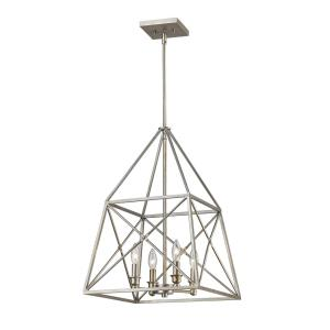 Trestle - 4 Light Pendant in Architectural Style - 16 Inches Wide by 23 Inches High
