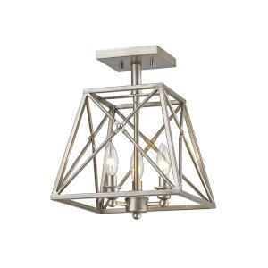 Trestle - 3 Light Semi-Flush Mount