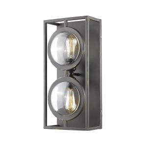Port - 2 Light Wall Sconce in Coastal Style - 9 Inches Wide by 19 Inches High