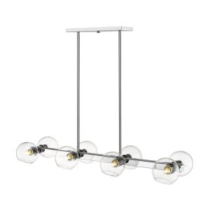Marquee - 8 Light Pendant in Linear Style - 14 Inches Wide by 5.5 Inches High