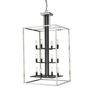 Quadra - 12 Light Chandelier in Linear Style - 22 Inches Wide by 42 Inches High