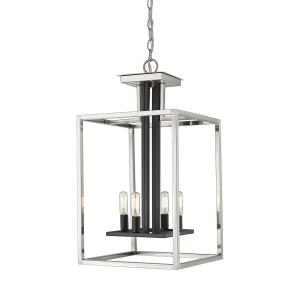 Quadra - 4 Light Chandelier in Linear Style - 13 Inches Wide by 25.25 Inches High