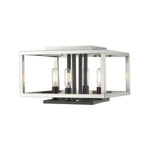 Quadra - 4 Light Flush Mount in Linear Style - 13 Inches Wide by 8.5 Inches High