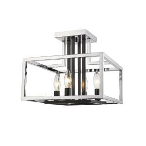 Quadra - 4 Light Semi-Flush Mount