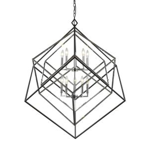 Euclid - 10 Light Chandelier in Linear Style - 41.5 Inches Wide by 44.5 Inches High