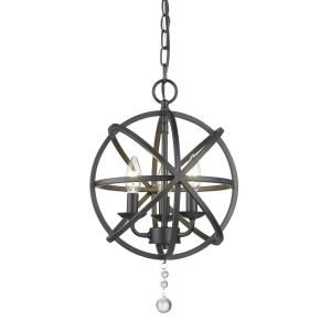 Tull Chandelier 3 Light  Steel