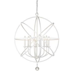 Tull - 8 Light Chandelier in Shabby Chic Style - 30 Inches Wide by 35.63 Inches High