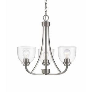 Ashton - 3 Light Chandelier in Traditional Style - 20.5 Inches Wide by 19.75 Inches High