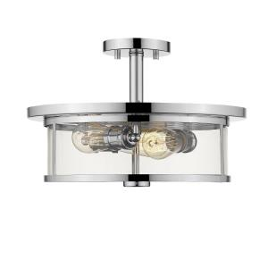 Savannah - Three Light Semi-Flush Mount