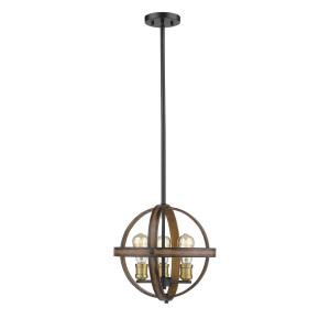 Kirkland - 3 Light Pendant in Restoration Style - 14 Inches Wide by 13.75 Inches High