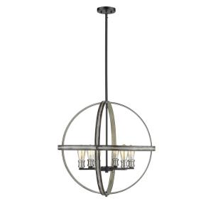Kirkland - 6 Light Pendant in Restoration Style - 26 Inches Wide by 25.75 Inches High