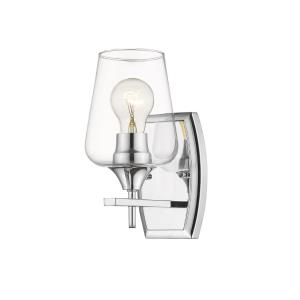 Joliet - 1 Light Wall Sconce in Shabby Chic Style - 5 Inches Wide by 9.5 Inches High