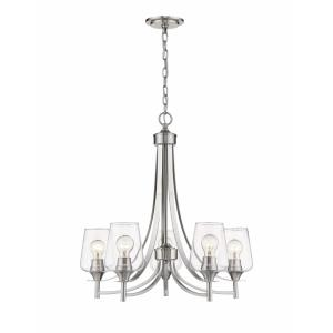 Joliet - 5 Light Chandelier in Shabby Chic Style - 25 Inches Wide by 26 Inches High