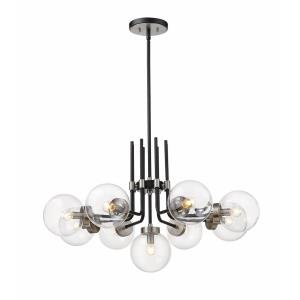Parsons - 9 Light Chandelier in Retro Style - 32 Inches Wide by 97.75 Inches High