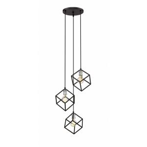 Vertical - 3 Light Pendant in Electric Style - 18 Inches Wide by 11 Inches High