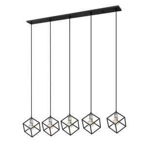 Vertical - 5 Light Island/Billiard in Electric Style - 10 Inches Wide by 11 Inches High
