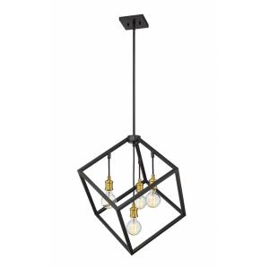 Vertical - 4 Light Pendant in Electric Style - 24 Inches Wide by 25.75 Inches High
