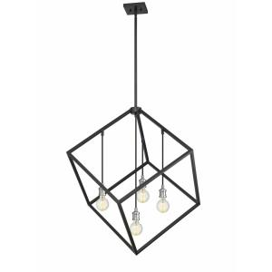 Vertical - 4 Light Pendant in Linear Style - 34 Inches Wide by 36.5 Inches High