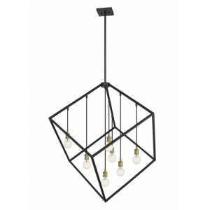 Vertical - 7 Light Pendant in Linear Style - 44 Inches Wide by 47 Inches High