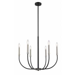 Haylie - 6 Light Chandelier in Electric Style - 26 Inches Wide by 106.25 Inches High