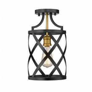 Malcalester - 1 Light Flush Mount in Restoration Style - 8 Inches Wide by 14.5 Inches High