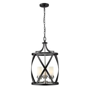Malcalester - 3 Light Pendant in Restoration Style - 14 Inches Wide by 24.75 Inches High