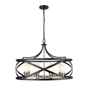 Malcalester - 8 Light Pendant in Linear Style - 30 Inches Wide by 21.5 Inches High