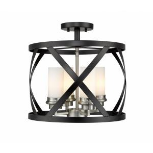 Malcalester - 4 Light Semi-Flush Mount in Linear Style - 15 Inches Wide by 15 Inches High