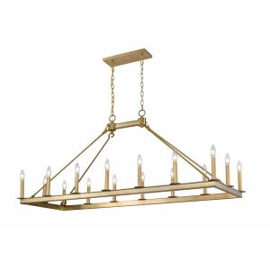Barclay - 16 Light Island/Billiard in Linear Style - 20 Inches Wide by 25.5 Inches High