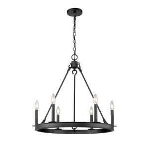 Barclay - 6 Light Chandelier in Linear Style - 25 Inches Wide by 24 Inches High