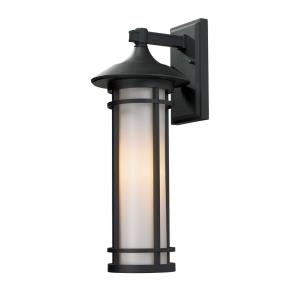 Woodland - 1 Light Outdoor Wall Mount in Art Deco Style - 8.13 Inches Wide by 20.25 Inches High
