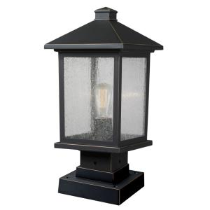 Portland - 17.88 Inch One Light Outdoor Square Pier Mount