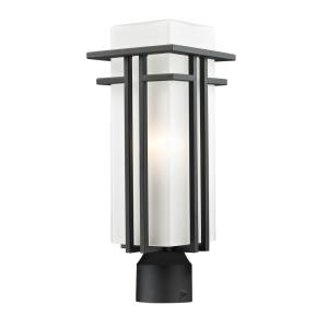 Abbey - 1 Light Outdoor Post Mount Lantern in Art Deco Style - 6.63 Inches Wide by 17.25 Inches High