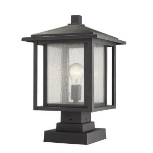 Aspen - 1 Light Outdoor Square Pier Mount Lantern
