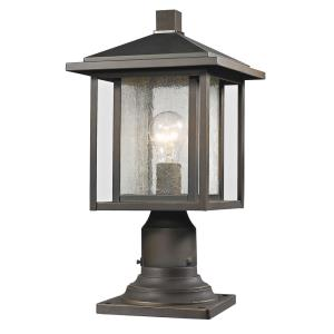 Aspen - 1 Light Outdoor Pier Mount Lantern in Urban Style - 9 Inches Wide by 16.75 Inches High