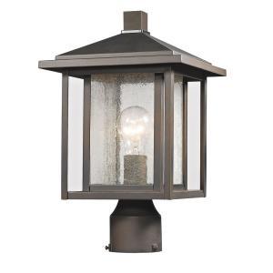 Aspen - 1 Light Outdoor Square Pier Mount Lantern