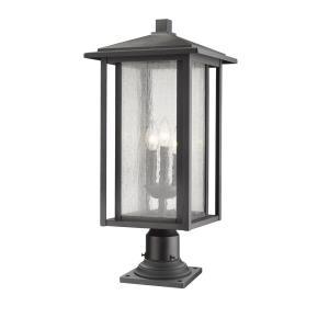 """Aspen - 26.44"""" Three Light Outdoor Pier Mount Post Lantern"""