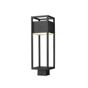 Barwick - 14W 1 LED Outdoor Post Mount Lantern in Industrial Style - 6.25 Inches Wide by 19.75 Inches High