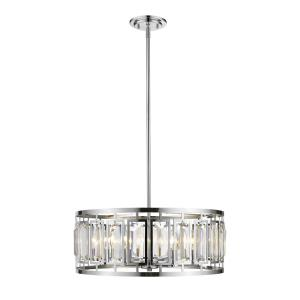 Mersesse - 6 Light Pendant in Metropolitan Style - 23 Inches Wide by 8.5 Inches High