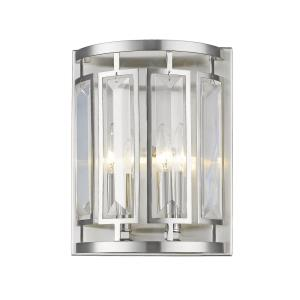 Mersesse - 2 Light Wall Sconce in Metropolitan Style - 9 Inches Wide by 11.75 Inches High